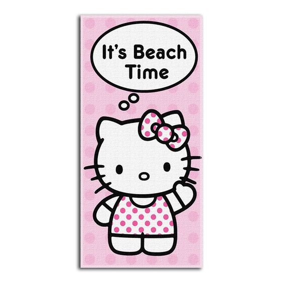 Hello Kitty Beach Time Beach Towels (28in x 58in)