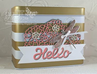 Debbie's Designs: Sale-A-Bration Altered Tin!: