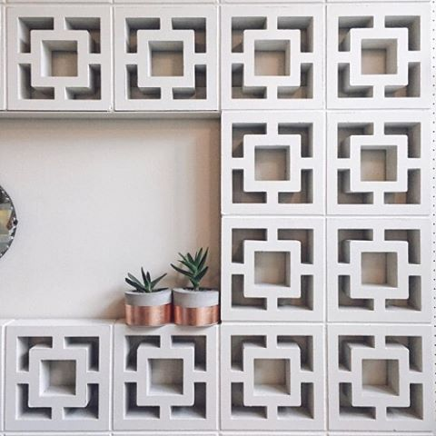 Breeze blocks as a wall feature