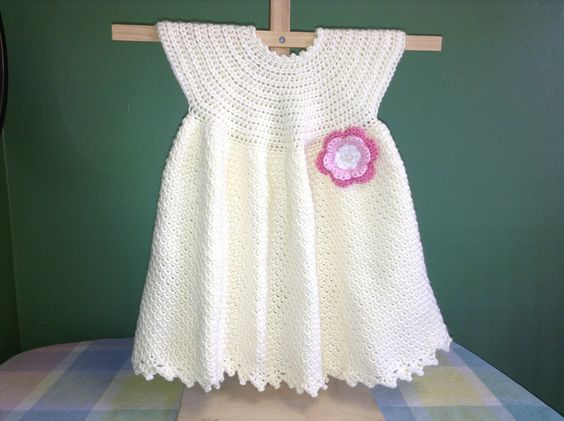 How to Crochet a Baby Dress - Easy