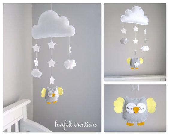 Bébé Mobile hibou - Owl pépinière - Cloud Mobile