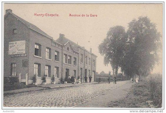 17640g GARE - RESTAURANT - CAFE - ESTAMINET - Henry-Chapelle - 1909 - griffe Vervier Ouest