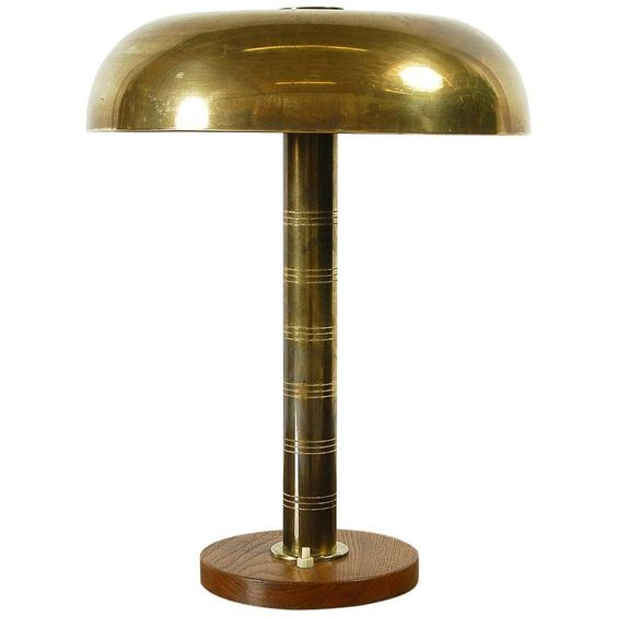 Rare 1940s Scandinavian Postwar Swedish Modernist Table Lamp By Bohlmarks In 2020 Table Lamp Wood Table Lamp Vintage Table Lamp