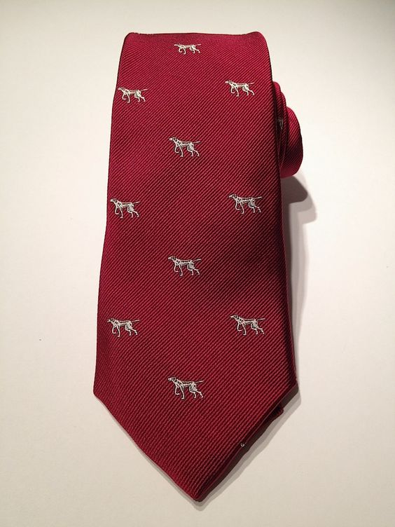 Mast-McBride Maroon Pointer Silk Club $75