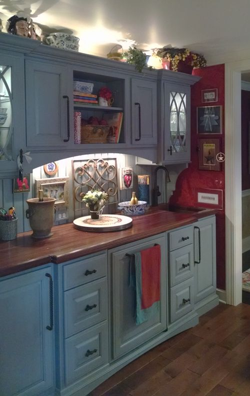 Distressed Sapele Mahogany Countertop Designed By Darlene Somrak