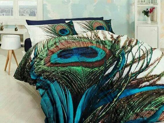 Peacock bedding