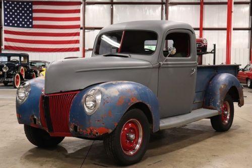 1940 Ford Pickup 90498 Miles Gray Pickup Truck V8 Manual Old