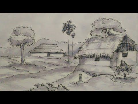 How To Draw A Village Scenery Step By Step Easy Drawing Youtube Landscape Pencil Drawings Easy Drawings Painting People interested in village pencil art also searched for. how to draw a village scenery step by