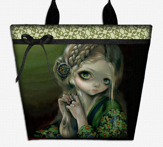 Guinevere Green Eyes Jasmine Becket Griffith bag by HautTotes, $54.75
