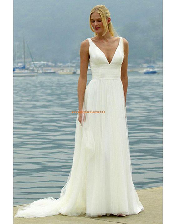 Augusta Jones 2013 Schlichte Bodenlange Hochzeitskleider aus Softnetz