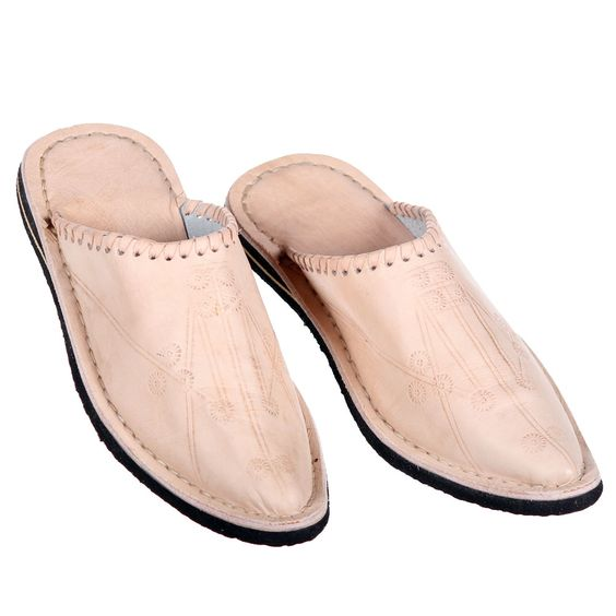 """Orientalische Schuhe """"Alibaba"""" natur. www.albena-shop.de"""
