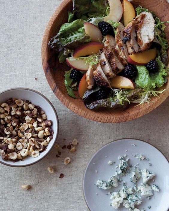 Oregon summer grilled chicken salad by Bon Appetit