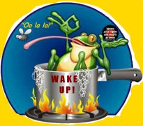 Poem - The Frog in the Slow Boiling Pot - Based on the old parable about the slowly boiling frog, Censored Poets blog brings us this short but impactful poem. Combining the age-old warning with today's current events, Dennis Rafkind reminds us that we are the boiling frog. From the Whiteout Press Poetry Section.: