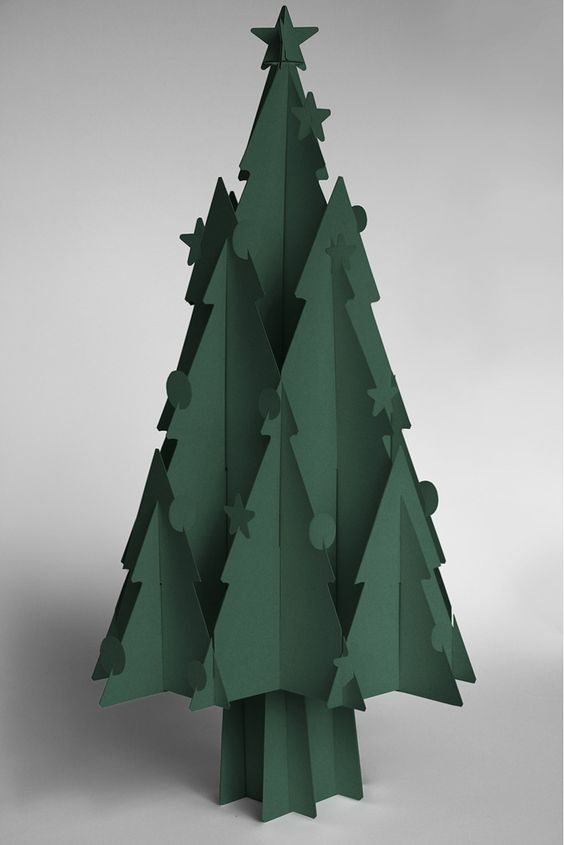 recycled cardboard christmas trees moderno craft. Black Bedroom Furniture Sets. Home Design Ideas