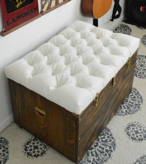 Make A Handy Ottoman For Added Storage Space