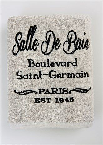 French Text Towels