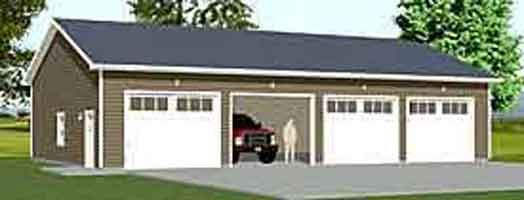 Carriage House Style 4 Car Garage Plan 2402 1 50 X 28 Garage Plans With Loft Garage Plan Garage Plans