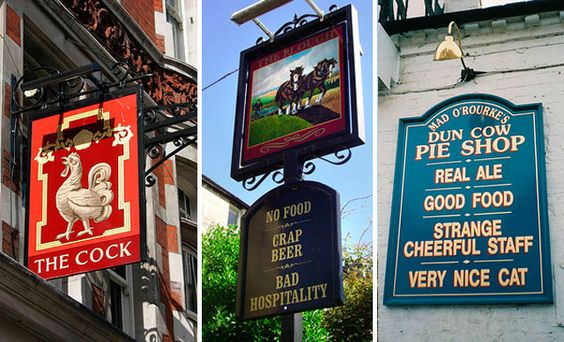 British pub signs