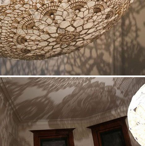 cool make and do idea I have so much beautiful lace too.