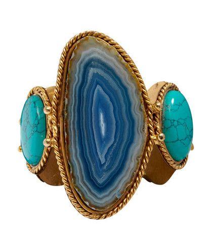 Manchette Theodora bleue