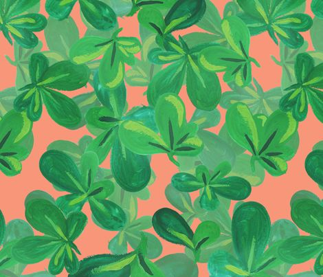 Coral Clusia by The Prime Floridian fabric by theprimefloridian on Spoonflower - custom fabric