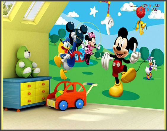 Mickey mouse design wall decals mickey mouse bedroom - Mickey mouse clubhouse bedroom decor ...