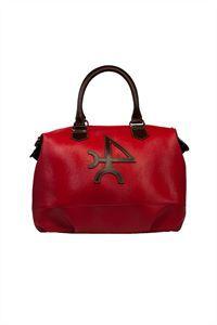 Valecuatro bolso cremallera piel rojo