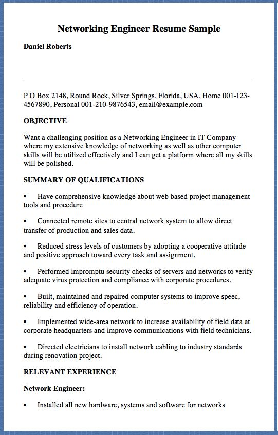 Sample Program Coordinator Resume Atleth Flames 1985 Ticonderoga - network engineer student resume