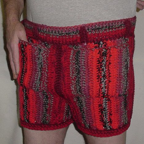 Gotta Check This Guys Etsy Crocheted Shorts Hahahahahaha