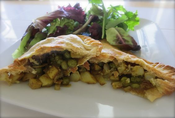 Super easy pea and potato samosas from Cuisine at Home