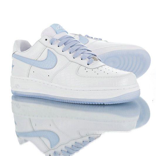 zamówienie online na stopach zdjęcia nowy przyjeżdża Nike Air Force 1 Crocodile skin light blue 21 lightning ...