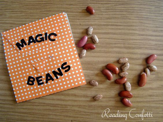 """l love this """"magic beans"""" activity to go with Jack and the Beanstalk.  The kids would LOVE it!"""