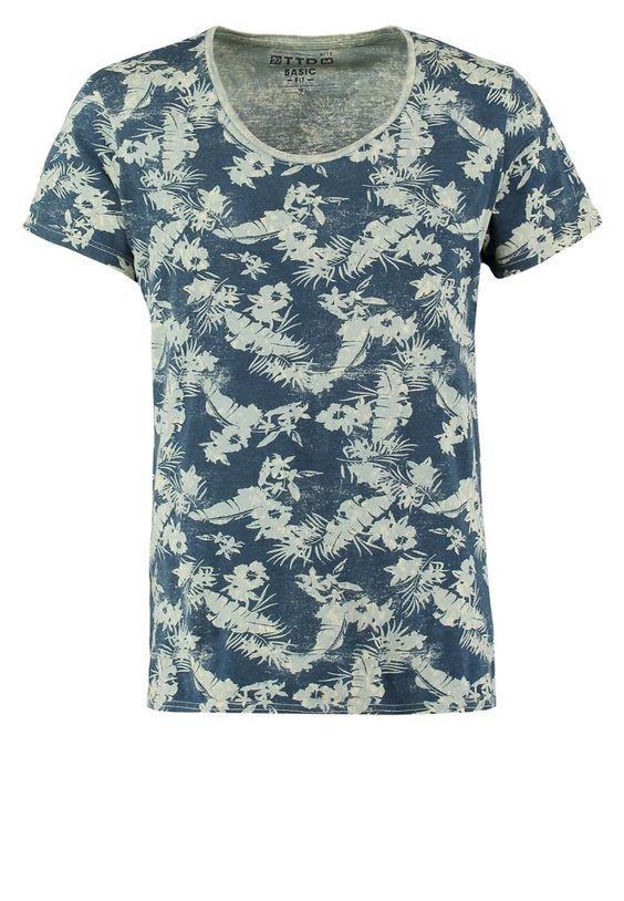 Tom Tailor Denim - BASIC FIT - Print T-shirt - blue
