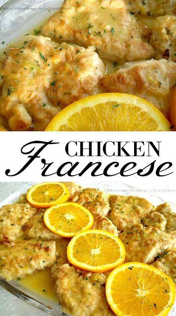 Chicken Francese | Grateful Prayer | Thankful Heart