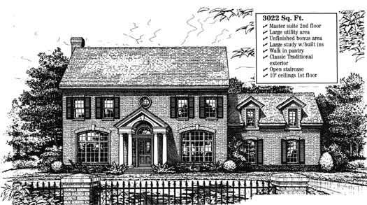Colonial Style Home Design