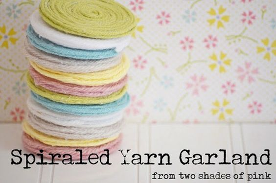 spiraled yarn garland tutorial