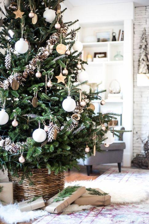 99 Modern Farmhouse Christmas Tree Ideas Farmhouse Christmas