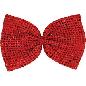 Giant Red Sequin Bowtie