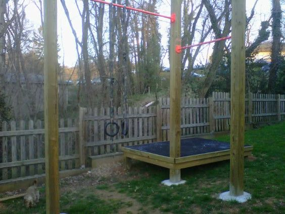 Outdoor pull up bar, Backyard gym and Crossfit on Pinterest
