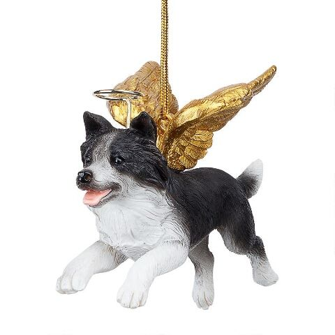 Border Collie Angel Tree Decoration From Www Twowoofs Co Uk Dog