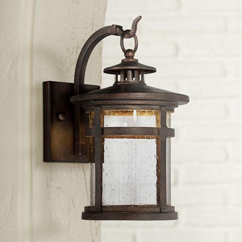 Callaway 14 1 2 High Bronze Led Outdoor Wall Light 5x192 Lamps Plus Outdoor Wall Lighting Led Outdoor Wall Lights Exterior Wall Light