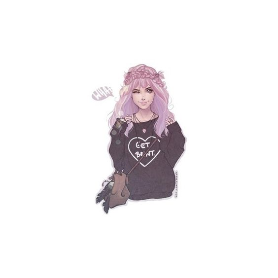 Beautiful pastel goth art Cute ❤ liked on Polyvore featuring fillers, anime, art, backgrounds and drawing