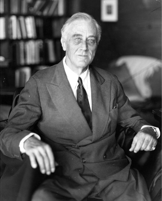 The last photograph of President Franklin Roosevelt, taken at Warm Springs, GA by Nicholas Robbins for Elizabeth Shoumatoff. FDR died the following day. April 11, 1945.