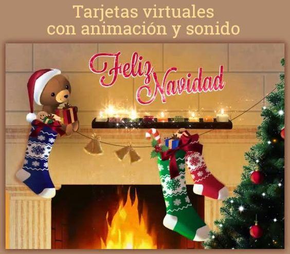 Tarjetas virtuales navideñas animadas y con sonido
