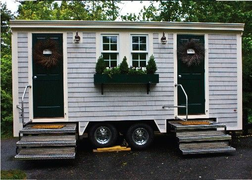 Luxury Loo restroom trailer.