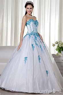Black And Blue Wedding Dresses  White and blue wedding dresses ...