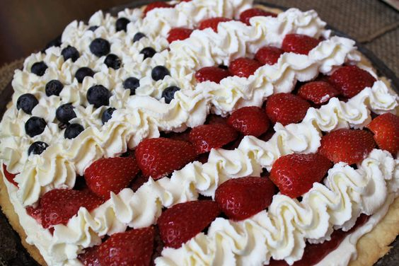 Red, White, and Blueberry Dessert Pizza is packed with homemade goodness.