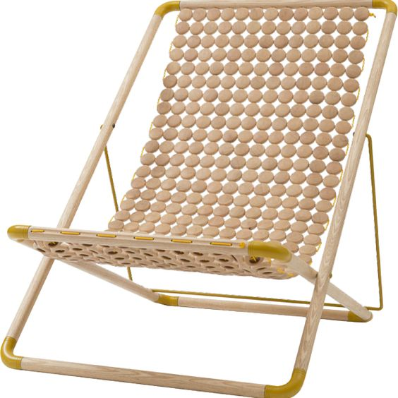 Chaise longue pliante en bois |The Socialite Family