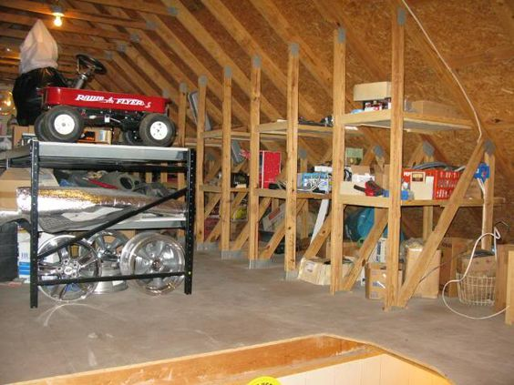 How To Install A Partial Or Full Floor In The Attic For Storage | Attic,  Storage And Attic Storage