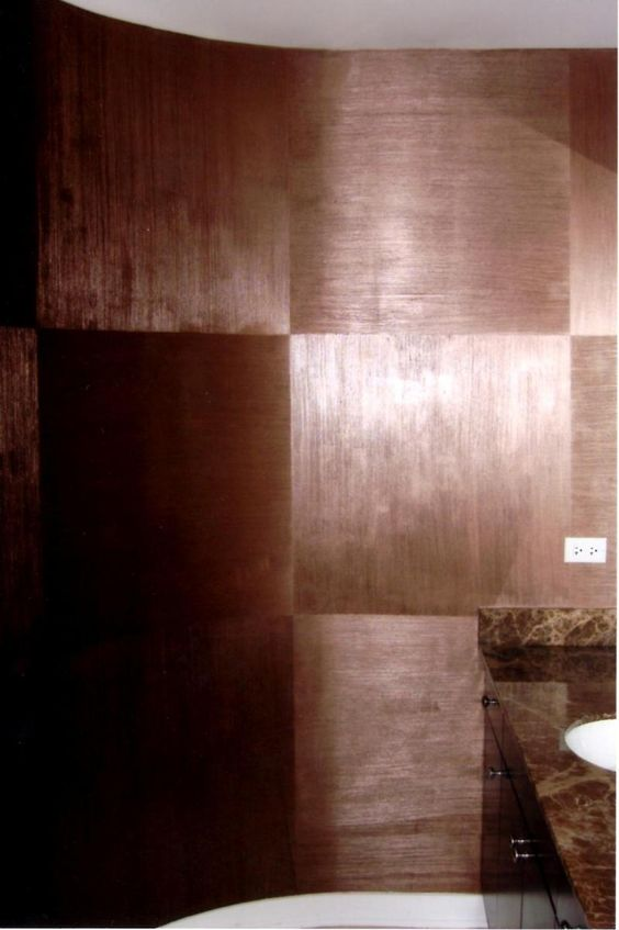 Beautiful other and stairs on pinterest - Metallic paint wall designs ...